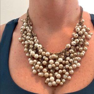 Loft pearl & crystal adjustable choker necklace